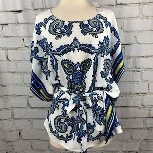 NWT - NY & CO. LG Bell sleeve with removable belt